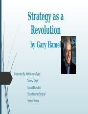 Strategy as a Revolution by Hamel