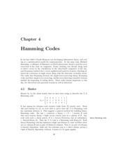 Chapter 4 Hamming Codes
