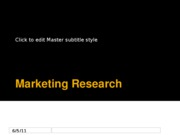 L3 Marketing Research