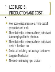 Lecture 5 Production and Cost.ppt