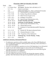 Lab Schedule-Fall2013