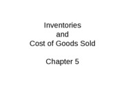 Mgmt 200 Fall 2008 Chap 5 Inventories and COGS