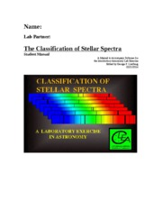 The Classification of Stellar Spectra 2-21-2014