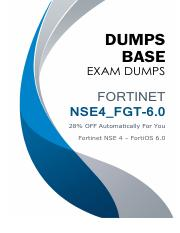 Real Fortinet NSE4_FGT-6.0 Dumps.pdf