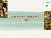 Chapter 9 - Application- international trade