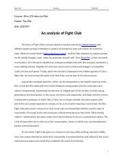 An analysis of Fight Club