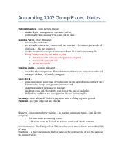 Accounting 3303 Group Project Notes.docx