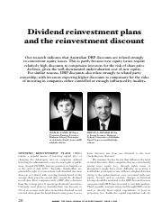Resource - Article - Dividend reinvestment plans and the reinvestment discount.pdf