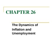 chapter 26 the dynamics of inflation and employment