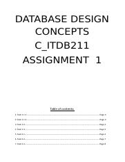ASSIGNMENT 1 DATABASE DESIGN