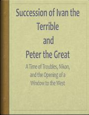 Ch. 17 A Time of Troubles and Peter the Great