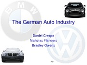 Entering the German Auto Industry