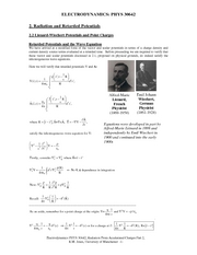 Radiation and Lienard Wiechert Potentials Part 2