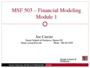 MBA_503_Lecture1_Overview_Excel_Functionality