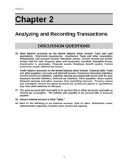 Tut 2 Analyzing and Recording Transactions
