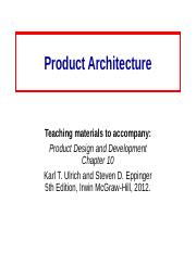 10 Product_Architecture.ppt
