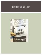 Chapter 5 Notes on Employment Law.ppt