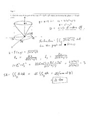 Exam 2 Solution Spring 2007 on Calculus and Analytic Geometry IV