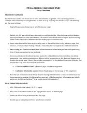 Ethical Decision-Making Essay Guidelines Spring 2016 (1)