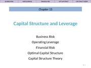 Ch 13 Lecture Slides, Capital Structure & Leverage