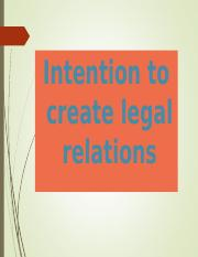 Law of  Contract - Intention to create legal relations.ppt