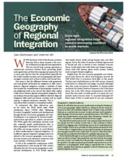 Finance & Development - December 2008 - The Economic Geography of Regional Integration
