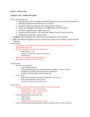 EXAM 1 OB and peds study guide - EXAM 1 STUDY GUIDE CHAPTER 1(OB