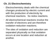 Chemistry - Chapter 21