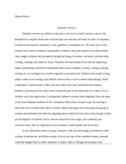 Domestic Services essay