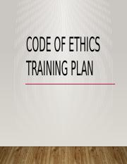 Training Plan Code of Ethics.pptx