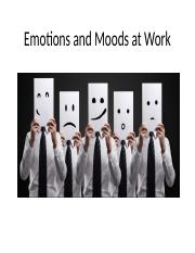 Emotions and Moods (Chapter 4) UPDATED (NO EXERCISE)