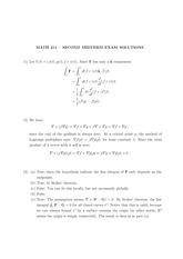 MATH 211 Fall 2011 Midterm 2 Solutions