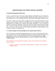 Material Masters for FERTs - Module 1