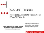 #03 FinCh3 MOODLE ACC200 Recording Accting Trans  - Fall 14