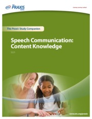 speech communication content knowledge