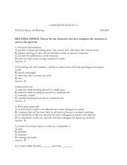 FIN3233_Sample Questions for Exam 1