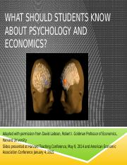 Week1-What should students know about psychology and economics1-11-16
