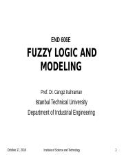 Fuzzy Logic and Modeling-1.pps