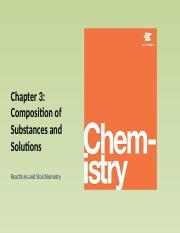 Chapter 4 - 3. Reactions and Stoichiometry