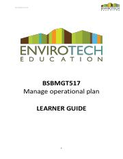 LEARNER GUIDE - BSBMGT517 - manage operational plan (1).pdf