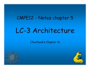 Chapter 5 Notes - LC-3 Architecture