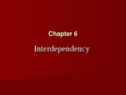 Chapter 6 Interdependency