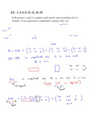 Assignment 2.1 Solutions on Linear Algebra Spring 2015