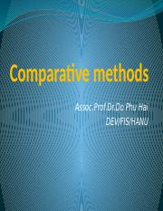 Lect 2.1 Comparative methods (1)
