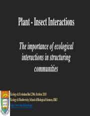Plant Insect Interactions