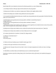 Worksheet#8
