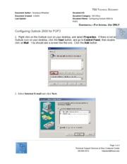 Configuring Outlook 2000 for POP3