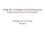 Formation of Soil Resources
