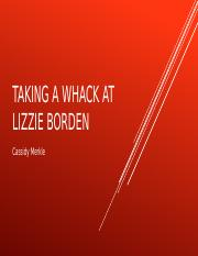 Taking a whack at lizzie borden