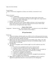 Class Notes IP Licensing (Fall 2013).docx